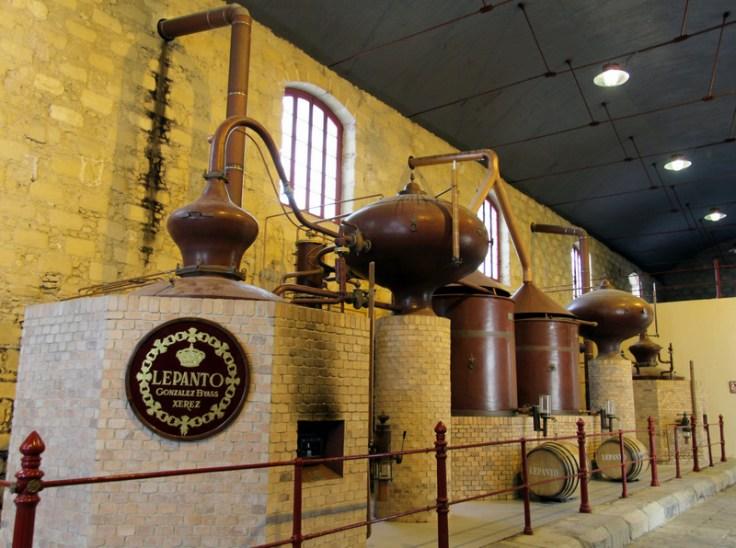 The two Lepanto brandy stills at González Byass