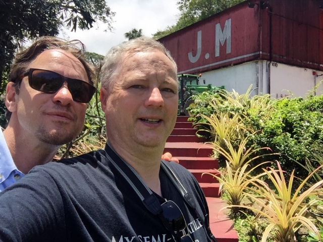 Ben Jones and Cocktail Wonk at Rhum J.M, Martinique