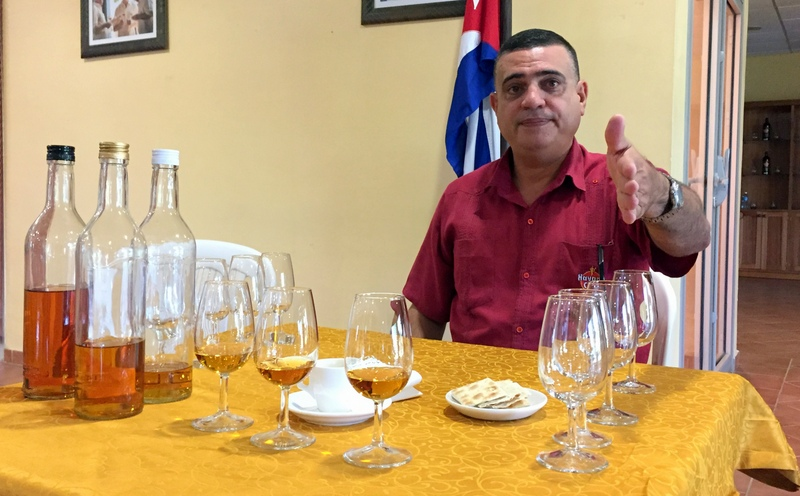 Maestro Ronero Asbel Morales at Havana Club's San Jose distillery