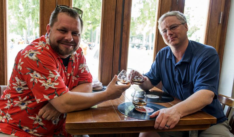 Enjoying Maximo with Havana Club representative Donnie Wheeler - Photo credit: Caleb Krivoshey