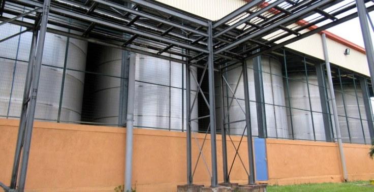 Carbon filtering tanks, Havana Club San José distillery