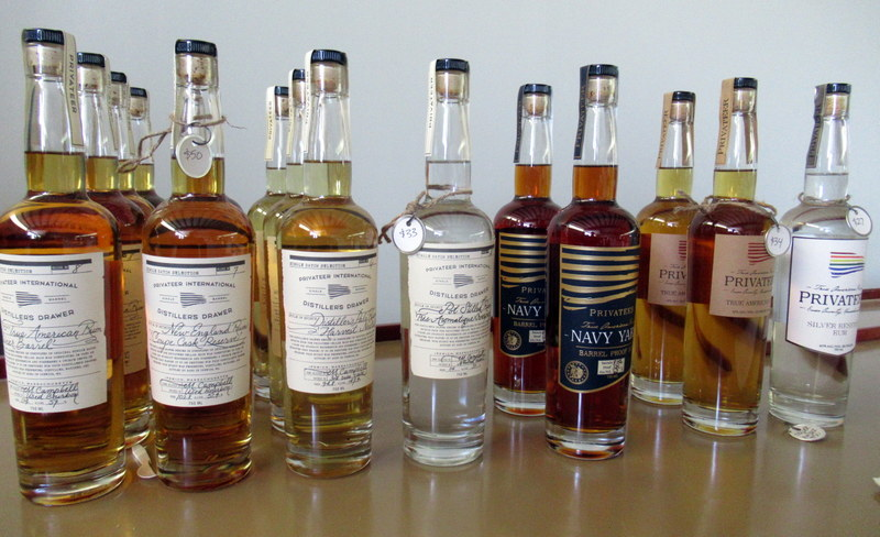 A selection of limited edition and regular release Privateer Rum distillates.