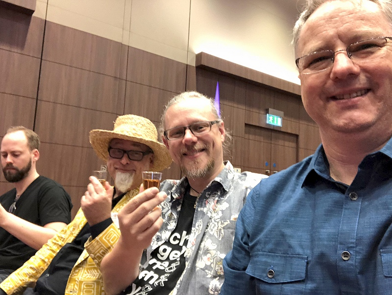 Tatu, Jeff, Peter and Cocktail Wonk, UK RumFest 2017
