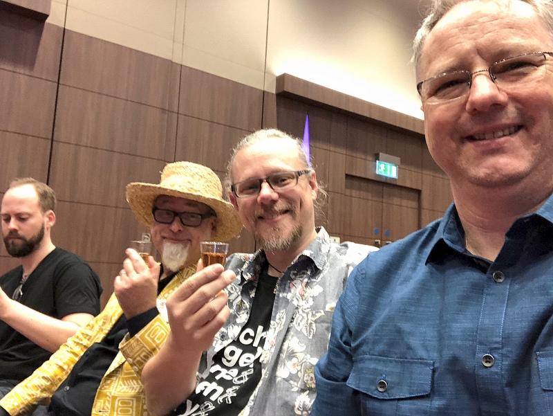 Tatu, Jeff, Peter and Cocktail Wonk, UK RumFest 2017