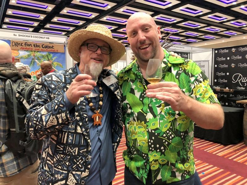 Tiki legends Jeff and Martin, UK RumFest 2017