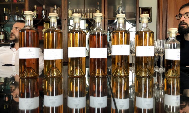 Long Pond rums at Maison Ferrand, with Nicolas and Benjamin