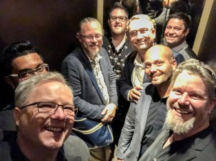 Rum writers in an elevator!