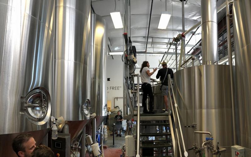 Mashing and fermentation at House Spirits (Westward Whisky), Portland OR
