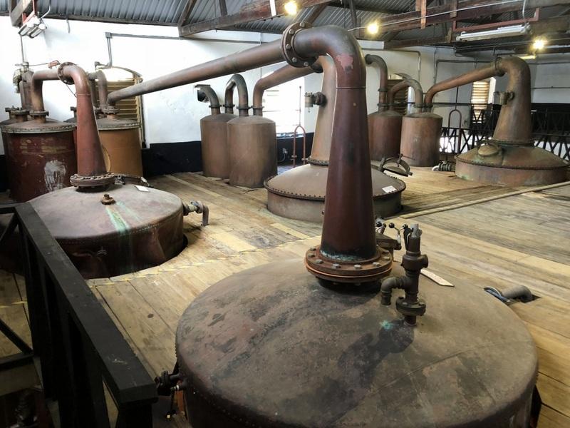 Pot stills, Mount Gay Distillery, St. Lucy, Barbados