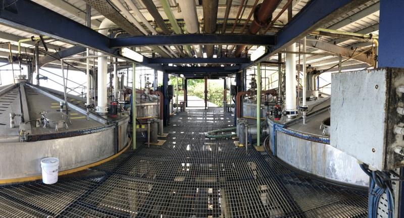 Fermentation vats, West Indies Rum Distillery, Barbados