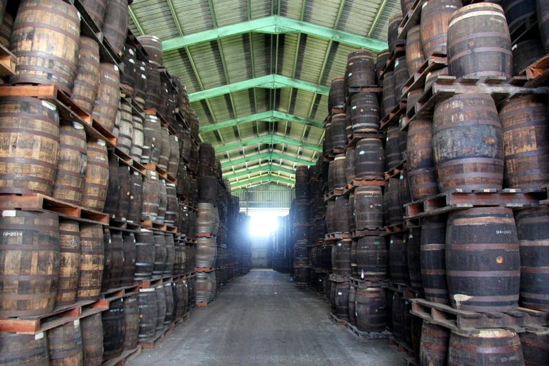 Rum aging warehouse, Foursquare Rum Distillery, Barbados