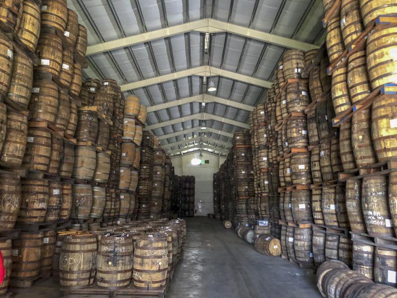 Mount Gay distillery aging warehouse