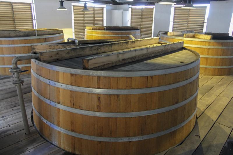 Mount Gay distillery fermenters