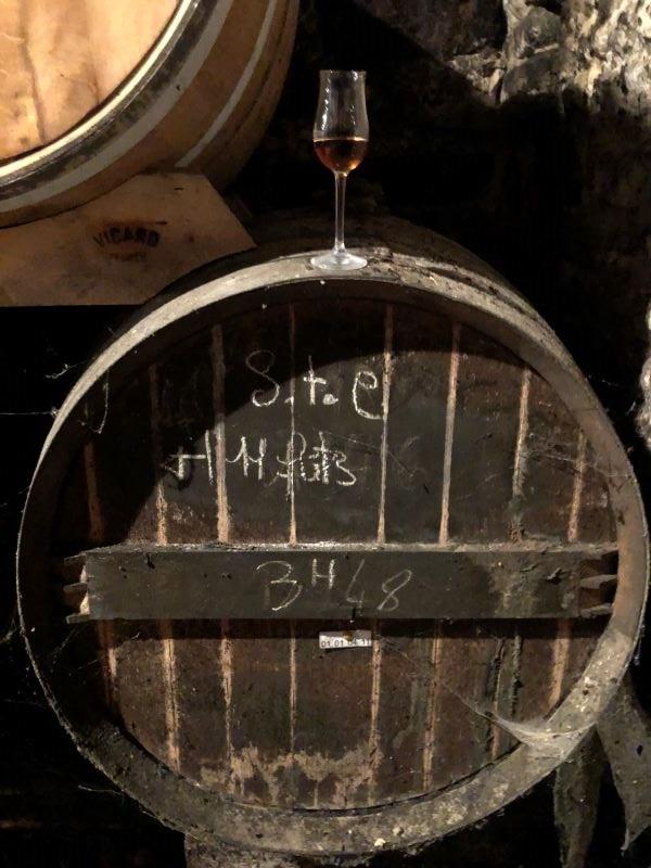Dosage undergoing aging in Cognac