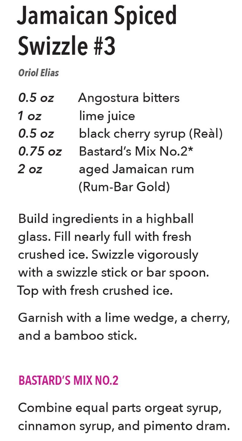 Jamaican Spiced Swizzle #3 Tiki Drink Recipe