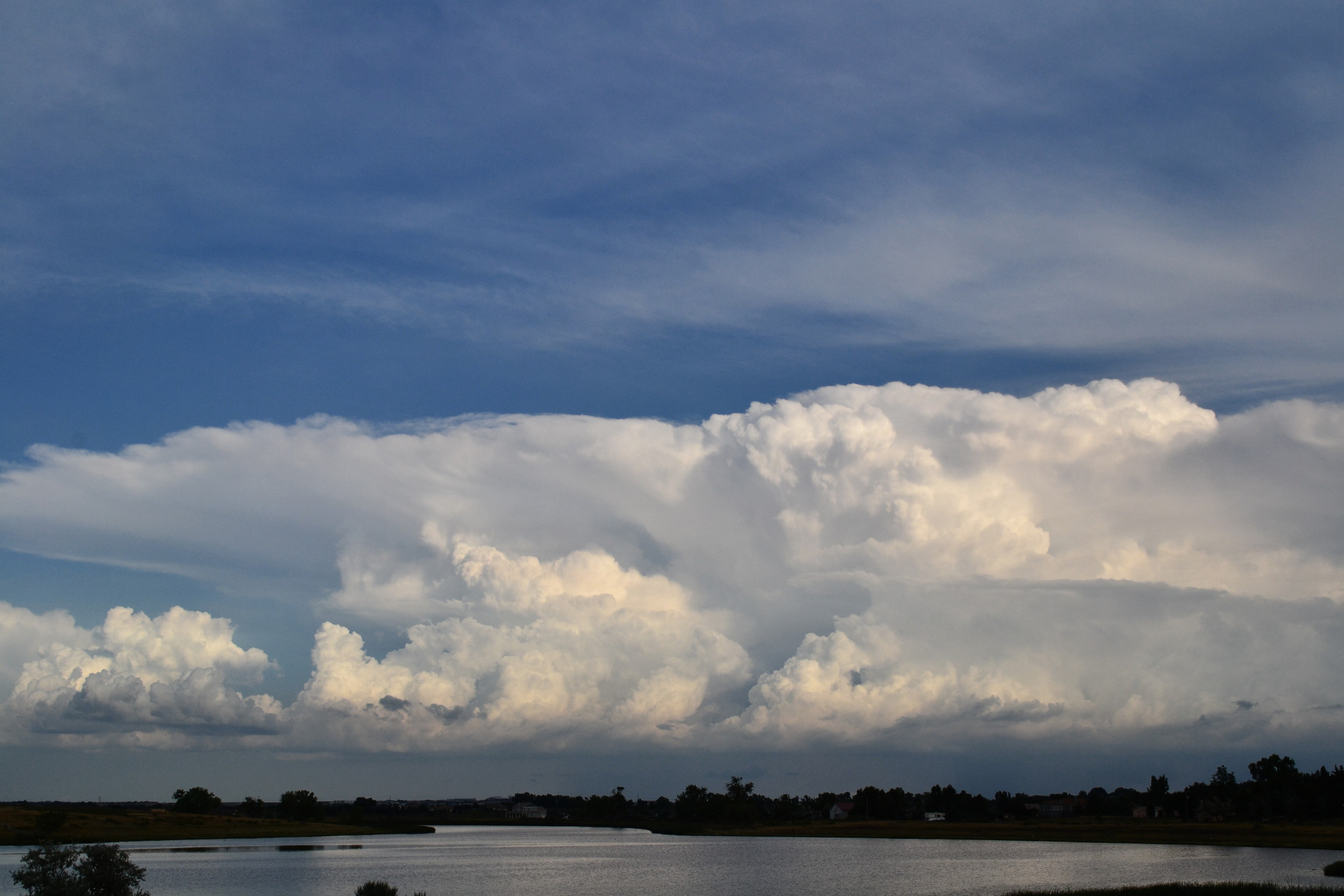 Stormy Backlit Panoramic Clouds Amp Distant Cumulus Clouds