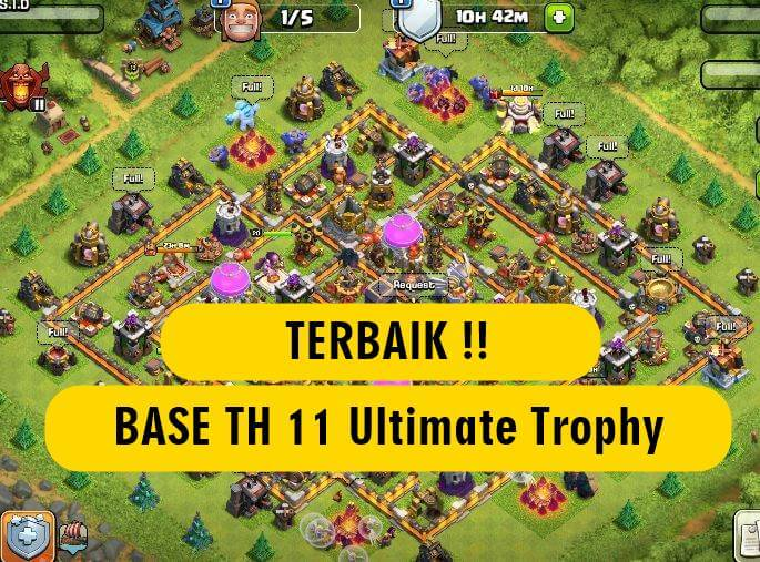 Best Base TH 11 Ultimate Trophy 2020