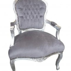French Velvet Chair Wheelchair Bus Grey Armchair Louis