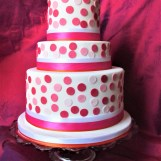 PInk Spot Party Cake by Cocoa & Whey Cakes in Winchester