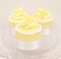 Wedding Favours - yellow mini cakes
