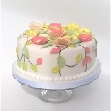 Applique Flower Party Cake by Cocoa & Whey Cakes in Winchester, Hampshire