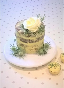 Photo of a cheese and apple savoury wedding cake
