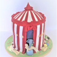 Circus Tent Birthday Cake by Cocoa & Whey Cakes in Winchester