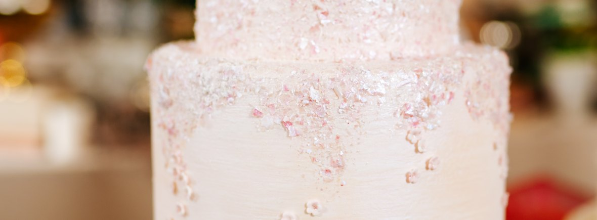 Cherry Blossom Wedding Cake with Photo Courtesy of Angela Ward-Brown Photography