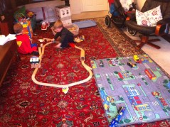 Trains and cars.