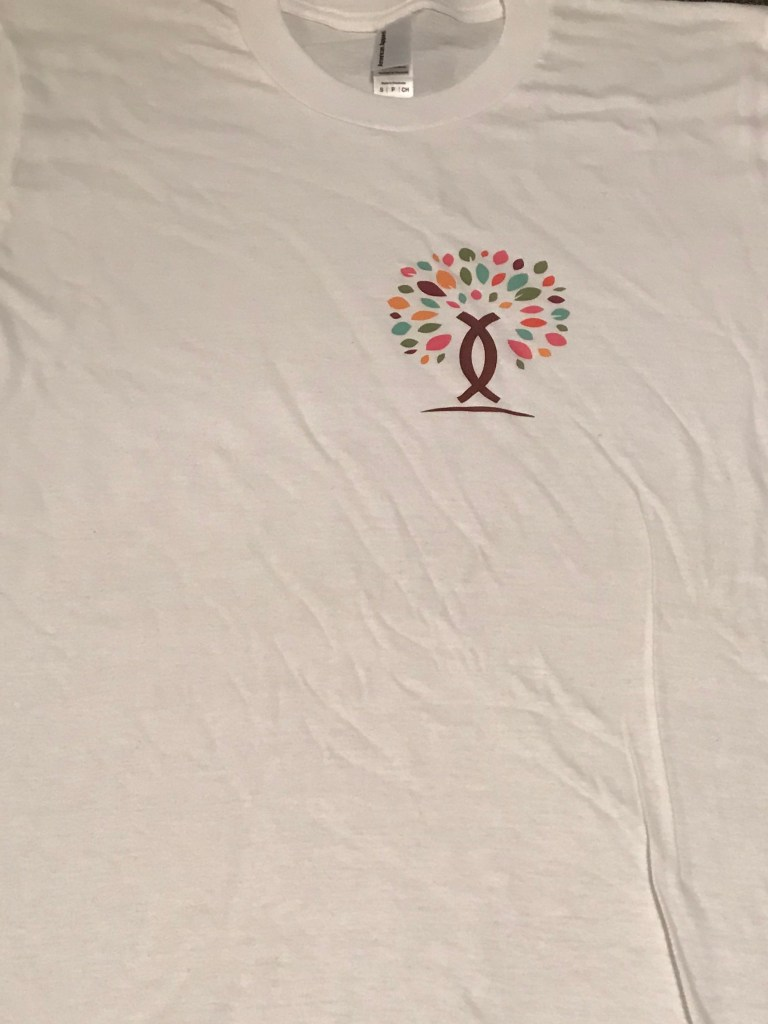 Upper Left Color Logo Tee