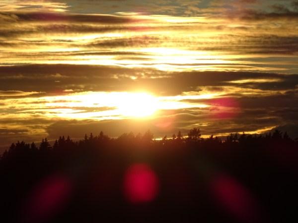 Sonnenuntergang Samstorps gård1