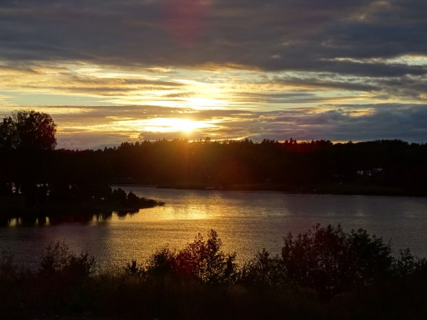 Sonnenuntergang Samstorps gård