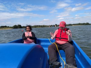 Personal progress 3, Thursday 11th July, pedaloes