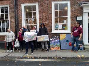 Thursday 7th November, CoCoCreatives – art delivery