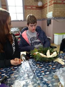 Monday 16th December, Sports adventure 2 – Wreath making