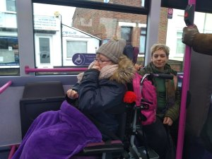 Thursday 30th January 2020, Personal Progress 2 – Using public transport and making choices in the community.