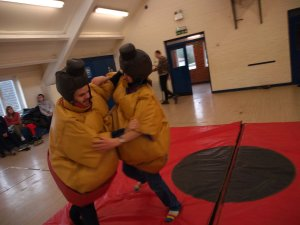 Monday 24th February 2020, Sports Adventure 1 and Developing Independence 3 – Rifle shooting and Sumo Suits