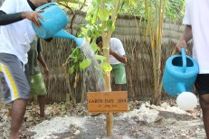 Tree planting and Earth Day plaque at Coco Bodu Hithi
