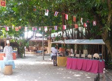 Special Lunch Buffet setup at Banyan Tree Square