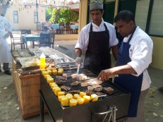 Our Chefs busy working the grill for the feast