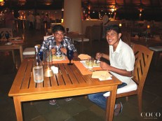 With smiles like that there is no denying that these two are enjoying their meal at COWRIE
