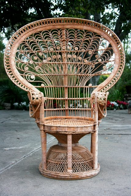 vintage peacock chair herman miller embody used what to do with a cool yard sale find wicker cococozy