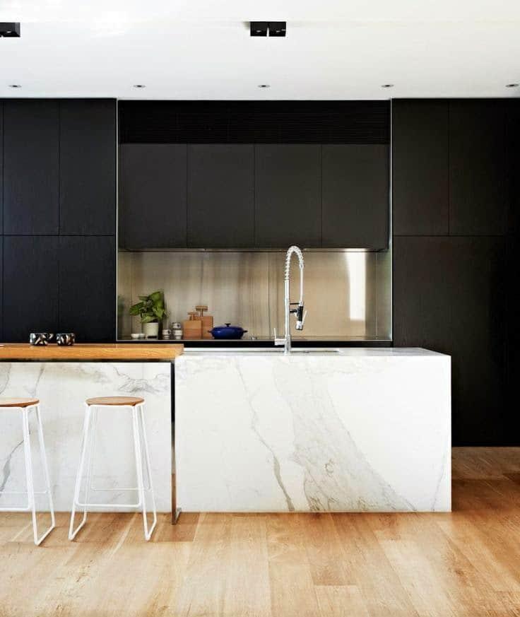 Black Kitchen Walls: 6 WAYS TO DECORATE WITH BLACK WALLS