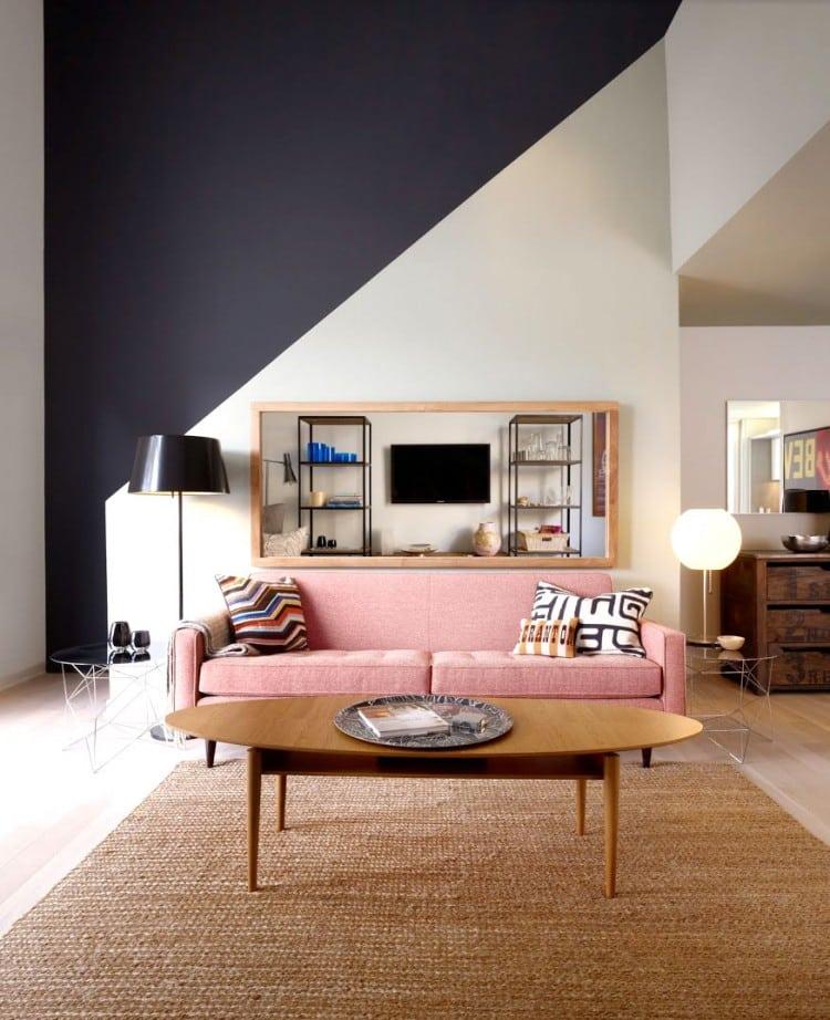colorful sofas - pink sofa