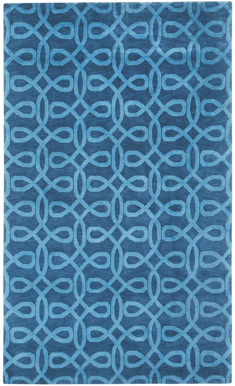 cococozy lyrical rug indigo blue living room design
