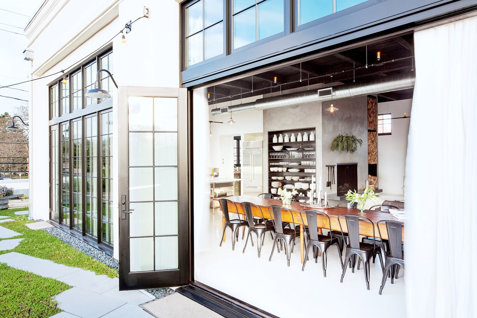 Industrial sleek loft living in portland cococozy for Industrial windows for homes