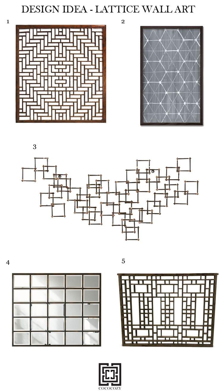 Lattice Wall Art Home Decor