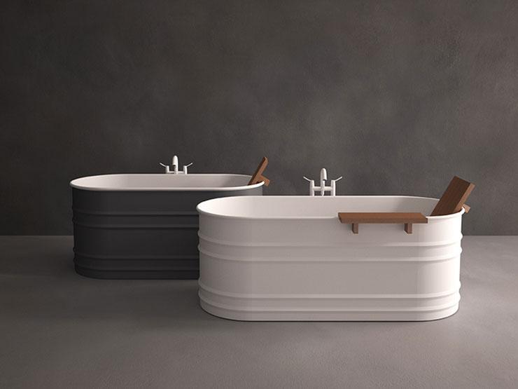 best freestanding bathtubs Patricia Urquiola metal white grey tubs