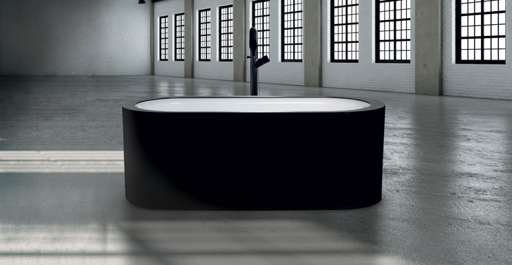 best freestanding bathtubs black and white tub Evolutionaquamass
