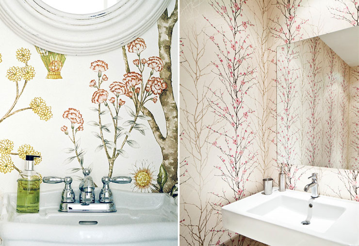 floral-wallpaper-powder-room-lonny-Palmerston-Design-Consultants-cococozy